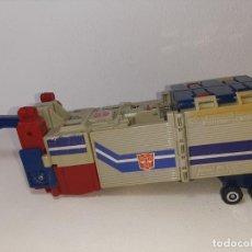 Figuras y Muñecos Transformers: TRANSFORMERS : ANTIGUO TRAILER OPTIMUS PRIME POWERMASTER GENERACION 1 HASBRO TAKARA AÑO 1987. Lote 288714058
