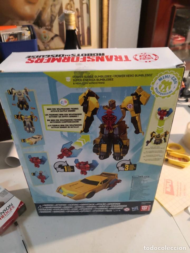 Figuras y Muñecos Transformers: Figura del Autobot Bumblebee Power Surge de la serie Transformers Robots in Disguise. Hasbro - Foto 3 - 289227883