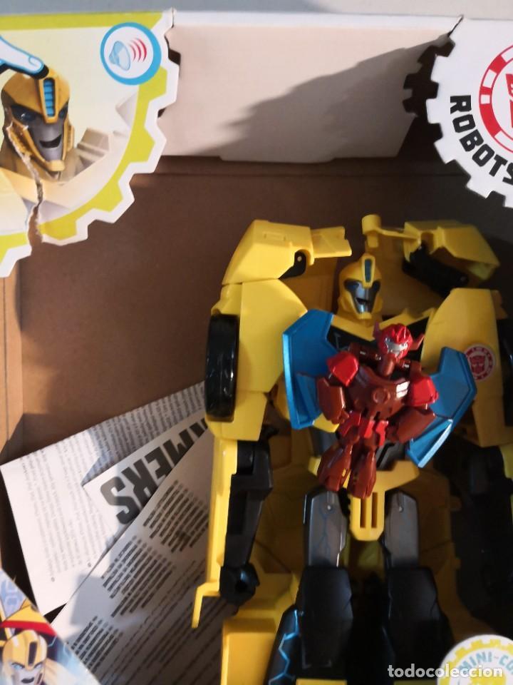 Figuras y Muñecos Transformers: Figura del Autobot Bumblebee Power Surge de la serie Transformers Robots in Disguise. Hasbro - Foto 4 - 289227883