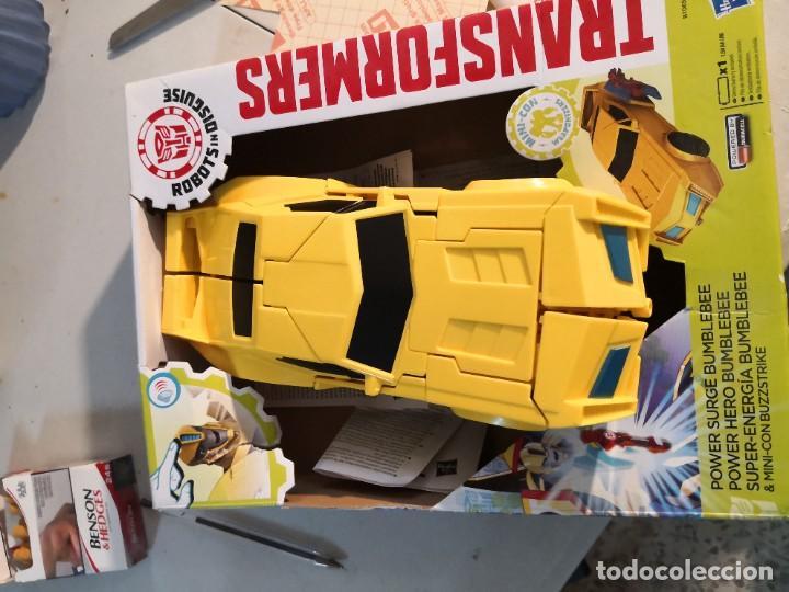 Figuras y Muñecos Transformers: Figura del Autobot Bumblebee Power Surge de la serie Transformers Robots in Disguise. Hasbro - Foto 5 - 289227883