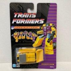 Figuras y Muñecos Transformers: HASBRO TRANSFORMERS CONSTRUCTICONS BONECRUSHER. NUEVO. VINTAGE. AÑO 1.990. A ESTRENAR CON PRECINTO.. Lote 293914818