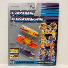 Figuras y Muñecos Transformers: HASBRO TRANSFORMERS MICROCOMBINER CONSTRUCTOR SQUAD. NUEVO. VINTAGE. AÑO 1.991. A ESTRENAR.. Lote 294853958