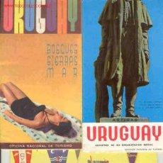 Folletos de turismo: LOTE 3 FOLLETOS DE URUGUAY AÑOS 60. Lote 65064