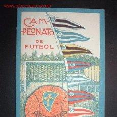 Folletos de turismo: FOLLETO DEL CAMPEONATO DE FUTBOL REGION ASTURIANA 1926/1927 1ª Y 2ªVUELTA. Lote 17976874