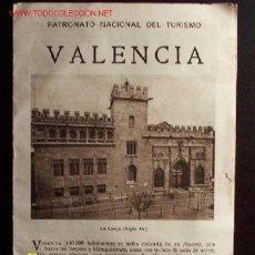 Folletos de turismo: FOLLETO TURÍSTICO DE VALENCIA DEL PATRONATO NACIONAL DEL TURISMO. 12 X 17 CM. 8 PÁGINAS. . Lote 17251511