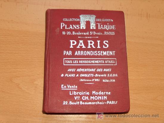 GUIA TURISTICA DE PARIS (Coleccionismo - Folletos de Turismo)