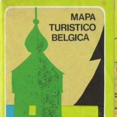 Folletos de turismo: MAPA TURÍSTICO DE BÉLGICA ( AÑOS 60). Lote 17904399