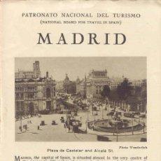 Folhetos de turismo: FOLLETO-GUIA DEL PATRONATO NACIONAL DE TURISMO DE MADRID-REPUBLICA. Lote 10783333