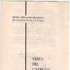 Folletos de turismo: FOLLETO DIPTICO DE LA VISITA DEL CASTILLO DE PEÑISCOLA. Lote 4137074