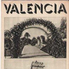 Folletos de turismo: FOLLETO TURÍSTICO VALENCIA - PUBLICACIONES DE LA DIRECCIÓN GENERAL DE TURISMO ( AÑOS 50) . Lote 21722424