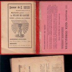 Folletos de turismo: GUIA CALLEJERO DE BARCELONA ** CIRCA 1910 ** 166 PAGINAS ** PUBLICIDAD ETC . Lote 24257749