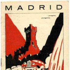 Folletos de turismo: FOLLETO DE TURISMO MADRID GUIA DE CARRETERA. Lote 4653134
