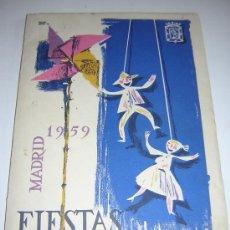 Folletos de turismo: PROGRAMA OFICIAL FIESTAS DE SAN ISIDRO MADRID 1959. Lote 25684941