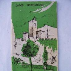 Brochures de tourisme: FOLLETO DE DATOS INFORMATIVOS DE GRANADA ,12X23CM APROX., 22PAG, AÑOS 60 APROX. Lote 22776666