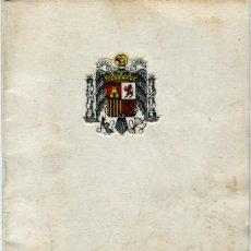 Folletos de turismo: 1 - 18 DE JULIO DE 1964 ANIVERSARIO ALZAMIENTO NACONAL XXV AÑOS DE PAZ FIESTAS EN REUS. Lote 5149567