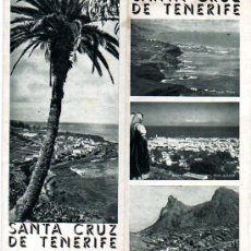 Folletos de turismo: FOLLETO DE SANTA CRUZ DE TENERIFE-TRIPTICO-. Lote 13248516