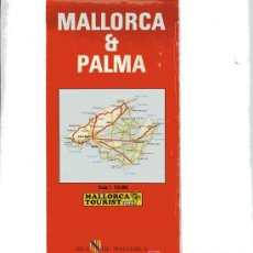 Folletos de turismo: MAPA TURISTICO DE PALMA DE MALLORCA. Lote 5348508