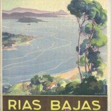Folletos de turismo: RIAS BAJAS, PUBLICACION DE LA DIRECCION GENERAL DEL TURISMO.. Lote 25844984