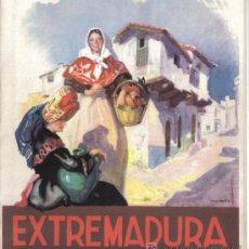 Folletos de turismo: EXTREMADURA, PUBLICACION DE LA DIRECCION GENERAL DEL TURISMO.. Lote 25539343