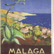 Folletos de turismo: MALAGA, PUBLICACION DE LA DIRECCION GENERAL DEL TURISMO.. Lote 27418523