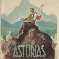 Folletos de turismo: ASTURIAS, PUBLICACION DE LA DIRECCION GENERAL DEL TURISMO.. Lote 25558712