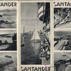Folletos de turismo: SANTANDER, FOLLETO DE TURISMO EN INGLES AÑOS 60. Lote 23742412