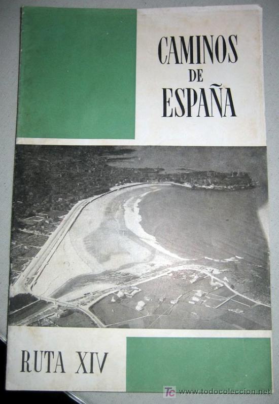 CAMINOS DE ESPAÑA - COSTA VERDE DE ASTURIAS - RUTA XIV - AÑO 1958 - CON FOTOGRAFIAS EN SU INTERIOR (Coleccionismo - Folletos de Turismo)