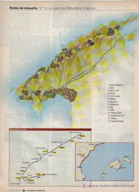 Folletos de turismo: RUTAS DE ENSUEÑO. Nº14. 1997. ANDRATX, VALLDEMOSSA, DEIA, SOLLER, POLLENÇA, PALMA DE MALLORCA - Foto 2 - 7409027