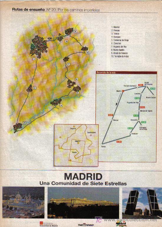 Folletos de turismo: RUTAS DE ENSUEÑO. Nº20. 1998. MADRID, TOLEDO, CHINCHON, ARANJUEZ, ALCALA DE HENARES, ILLESCAS - Foto 2 - 8204383