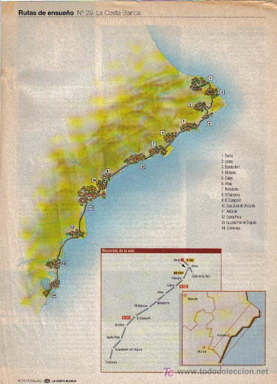 Folletos de turismo: RUTAS DE ENSUEÑO. Nº29. 1998. DENIA, JAVEA, BENIDORM, ALICANTE, SANTA POLA, TORREVIEJA, VILLAJOYOSA - Foto 2 - 7410962
