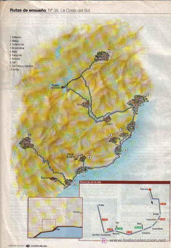 Folletos de turismo: RUTAS DE ENSUEÑO. Nº39. 1998. ANTEQUERA, MALAGA, MARBELLA, RONDA, TORREMOLINOS, BENALMADENA - Foto 2 - 7411249