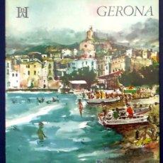 Folletos de turismo: GERONA. EDITADO POR EL BANCO HISPANO AMERICANO EN 1968/69. FISA ESCUDO DE ORO. Lote 22342911