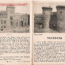 Folletos de turismo: ANTIGUO FOLLETO DE TURISMO DE VALENCIA. (AÑOS 50?). Lote 21462888