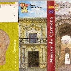 Folletos de turismo: 10 FOLLETOS TURÍSTICOS + 1 PEGATINA DE REGALO DE CARMONA (SEVILLA).. Lote 22245646
