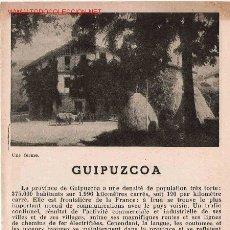 Folletos de turismo: FOLLETO TURÍSTICO GUIPUZCOA- AÑOS 50?. Lote 21561126