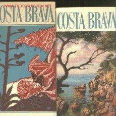 Folletos de turismo: COSTA BRAVA - 2 PLANOS . Lote 26578109