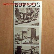 Folletos de turismo: BURGOS - ANTIGUO TRÍPTICO TURÍSTICO EN CASTELLANO. Lote 17074918