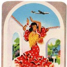Brochures de tourisme: PEGATINA IBERIA, LINEAS AERIAS ESPAÑOLAS, ILUSTRADO POR GRAUS. Lote 9825366
