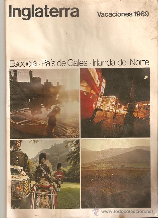 revista turistica,inglaterra,vacaciones 1969.escocia,pais de gales,irlanda del norte. segunda mano