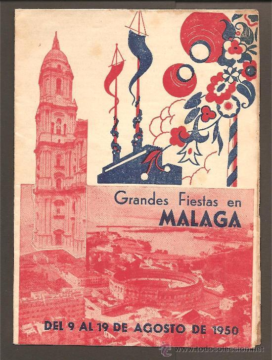 MALAGA, PROGRAMA FERIA 1950 (Coleccionismo - Folletos de Turismo)