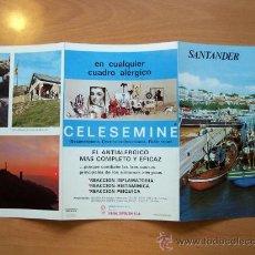 Folletos de turismo: GUÍA TURÍSTICA SANTANDER. COLECCIÓN ESPAÑA MONUMENTAL. TRIPTICO. AÑO 60-70. Lote 19225371