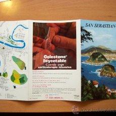 Folletos de turismo: GUÍA TURÍSTICA SAN SEBASTIAN. COLECCIÓN ESPAÑA MONUMENTAL. TRIPTICO. AÑO 60-70. Lote 19225368