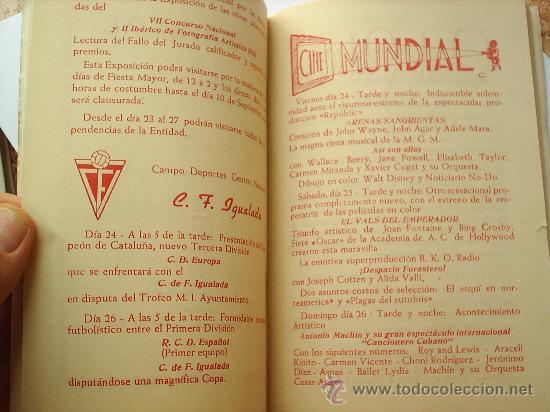 Folletos de turismo: PROGRAMA DE FIESTA MAYOR -CIUDAD DE IGUALADA-1951 - Foto 5 - 27512068