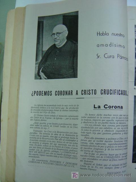 Folletos de turismo: VALENCIA - SOLEMNES FIESTAS EN HONOR DEL SANTISIMO CRISTO DE LA FE, BARRIADA CALLE SAGUNTO- AÑO 1955 - Foto 2 - 23018198