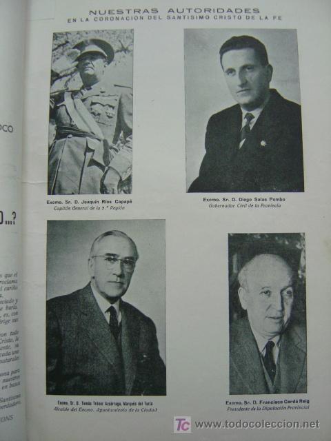 Folletos de turismo: VALENCIA - SOLEMNES FIESTAS EN HONOR DEL SANTISIMO CRISTO DE LA FE, BARRIADA CALLE SAGUNTO- AÑO 1955 - Foto 3 - 23018198