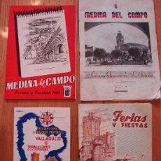 Brochures de tourisme: LOTE DE 3 PROGRAMAS ANTIGUOS FIESTAS DE MEDINA DEL CAMPO Y DIA DE LA PROVINCIA. Lote 26250284