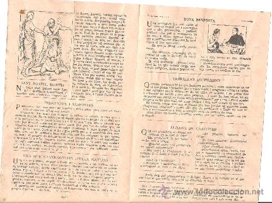 Folletos de turismo: PARROQUIA DE SANTA MARIA DE GUISSONA. LA FESTA SANTIFICADA. HOJAS PARROQUIALES AGOSTO 1935. - Foto 2 - 10729301