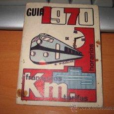 Folletos de turismo: GUIA 1970 HORARIOS TRENES AUTOBUSES . Lote 13621321