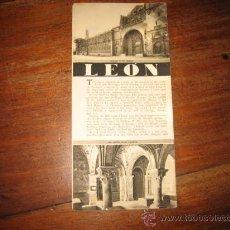 Folletos de turismo: LEON EN LENGUA INGLESA. Lote 11064013