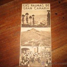 Folletos de turismo: LAS PALMAS DE GRAN CANARIAS. Lote 11064723